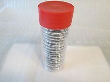 One Red Capsule Tube & 20 Air-Tite 39mm Black Ring Coin Holder for Silver Rounds