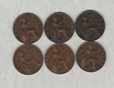 More details for six 1902 to 1910 edward vii halfpennies near very fine condition