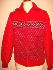 rare true vintage 80`s Jacke Steppjacke oldschool 80er Jahre ski track jacket 38