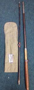 VINTAGE HORROCK'S IBBOSTON 2 PIECE FISHING ROD 5'6 WARPED FERRULES STUCK TOGETHE