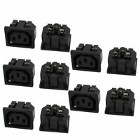 250VAC 10A 10Pcs Universal Female IEC320 C13 Letter Base Connector Adapter