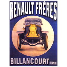 Renault Freres Ad Poster Deco FRIDGE MAGNET, Automobile Motor Mini Gift