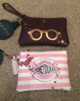 Harry Potter Coin Purse Wallet Makeup Bag Primark Black Purple Ladies Women's