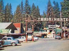 VINTAGE 1950'S PHOTO  TWAIN HARTE ENTRANCE ARCH, TUOLUMNE CO. . CALIF.