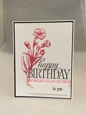 "Card Kit Set Of 4 Stampin Up Butterfly Basics Melon Mambo ""Happy Birthday To You"