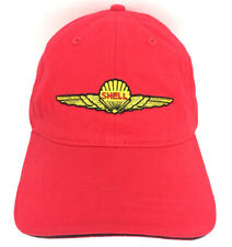 AeroShell Hat Shell Cap Aviation Airplanes Jets Gas Station Oil Advertising Logo