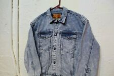 VINTAGE Calvin Klein Jacket Blue Denim Jean CK Coat Mens 90s Size L