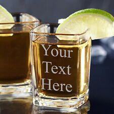 Custom Personalized 2 oz Square Shot Glass