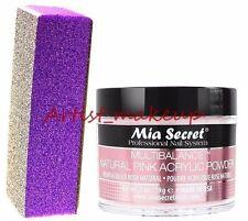 Mia Secret Acrylic Multibalance Nail Powder Size: 2 oz + Mia Sponge File - USA