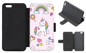 Unicorn & Rainbow Wallet Flip Phone Case iPhone 4 5 6 7 8 9 10 Plus X Galaxy (A)