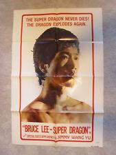 Bruce Lee Super Dragon, Jimmy Wang Yu, Original 1 Sheet, 1976