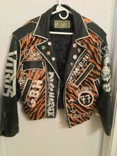 Vintage punk leather jacket size M misfits exploited GBH total chaos
