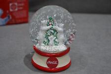 Coca Cola Polar Bears & Christmas Tree Snow Globe Gift Brand New Xmas Holidays