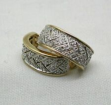 A Lovely Pair Of Brooks & Bentley Silver & Applied Gold 1/4ct Diamond Earrings
