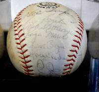 1966 NEW YORK YANKEES SIGNED BALL PSA DNA LOA
