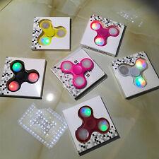 100pcs/Lot 2017 new LED Flash Light pattern Tri Fidget Hand Finger Spinner Toys