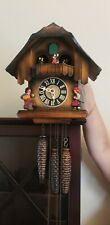 Antique German Wooden Cuckoo Clock, plays Schubert waltz