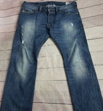DIESEL SAFADO Regular Slim Straight Leg Jeans Distressed Men's 32 Actual 35x31