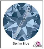 DENIM BLUE Swarovski 20ss 5mm Crystal New 2058 Flatback Rhinestones 12 pieces