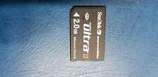 Sandisk Memory Card Stick ULTRA 2 Pro Duo Magic Gate 2Gb PSP / Cybershot Cameras