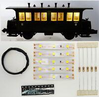 5 Stück 50mm LED Waggon Innenbeleuchtung Warmweiß Bausatz Analog/Digital C3207