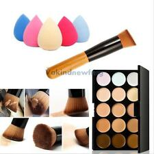 15 Colors Contour Face Cream Makeup Concealer Palette Powder Brush Sponge Puff