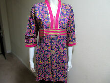 New India 100% Cotton Purple Women Ladies Printed Top Blouse