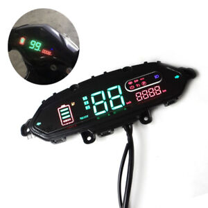 1× Electric Motorcycle Odometer Speedometer Power Headlight Turn Digital Display
