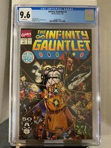 The Infinity Gauntlet #1 CGC 9.6, 1991, HUGE MARVEL COMIC KEY STORY, MCU!