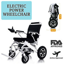 Foldable Electric Wheelchair Power Wheel Chair Lightweight Mobility Aid Folding