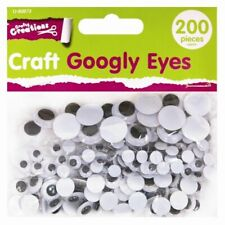200 Adhesive Googly Eyes Assorted Wiggly Wobbly Sticky Stick On Arts Craft Large