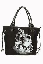 Black Gothic Skull Watch Back In Black Rockabilly Handbag Bag BANNED Apparel