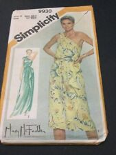 Simplicity Retro Disco Era Dress Pattern # 9930 Ladies Size 10 From 1981