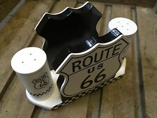Route 66 Paper Kitchen Napkin Holder + Salt And Pepper Shakers