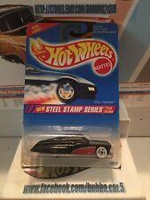 1995 HOT WHEELS ''STEEL STAMP SERIES'' #285 = STEEL PASSION = BLACK www