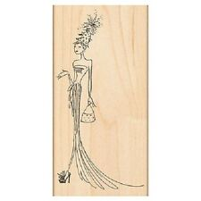 PENNY BLACK RUBBER STAMPS CHRISTMAS GORGEOUS LADY NEW wood STAMP