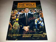 "THE WOLF OF WALL STREET PP SIGNED 12""X8"" POSTER LEONARDO DICAPRIO JONAH HILL"
