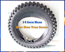 "90/100 14"" Rear Knobby Tyre & Tube Dirt Pit Bike for Atomik Thumpstar Tire"