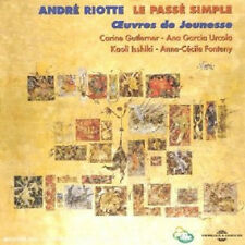 898 //LE PASSE SIMPLE : OEUVRES DE JEUNESSE - RIOTTE ANDRE CD NEUF BLISTER ABIME
