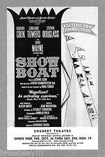 "Barbara Cook ""SHOW BOAT"" Constance Towers / David Wayne / Jerome Kern 1966 Flyer"