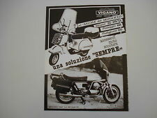 advertising Pubblicità 1981 VIGANO' e VESPA PX 125/MOTO GUZZI 1000 SP