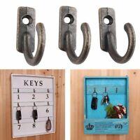 10x Antique Wall Mounted Hooks Key Holder Letter Rack Hanger Hanging Zinc Alloy