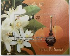2019 INDIA MINIATURE SHEET - INDIAN PERFUMES ORCHID BLOSSOM SCENTED STAMPS MNH