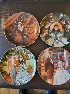 4 Gone with the Wind Collector Plates by W.L. George Numbered
