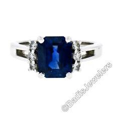 KURT WAYNE 18ct Oro 3.36ct AGL Emerald ZAFIRO Solitario & Diamante Detalles