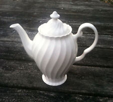 Regency Swirl Suffolk by Johnson Bros.  Coffee Pot & Lid  Snowwhite