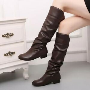 New Fashion 2021 Ankle Women Boots Knee-High Fur Snow Winter Warm Shoes US Size