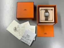 HERMES Cape Cod WATCH CC2.710 Single Tour Unisex - Grey/Taupe Leather - With Box
