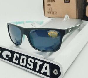 """COSTA DEL MAR matte gray-mint/gray """"REMORA"""" POLARIZED 580P sunglasses NEW IN BOX"""
