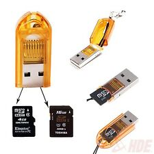 New Mini USB 2.0 Memory Card Reader 2-in-1 Support Micro SD SDHC TF Flash